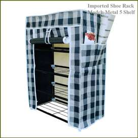 Single Shoe Rack 5 Layer Metal Shelves, Don't leave home without