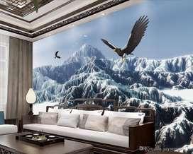 Beautiful Customized 3D Wallpapers - Rs. 70 per sqft