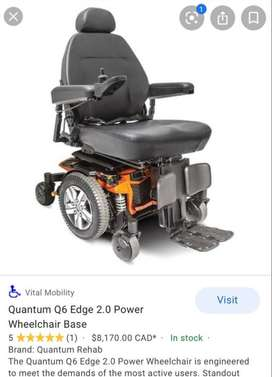 Quantam Q6 Edge Heavy Duty Electric Wheel Chair