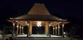 Jual Bangunan kayu jati (Joglo Pendopo) Ukir Tumpangsari