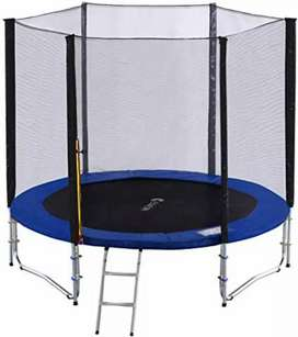 Trampoline 8FT w/Safety Pad and Enclosure Net All-in-one Combo Set