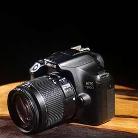 Canon 1300D Lensa 18-55 Fullset
