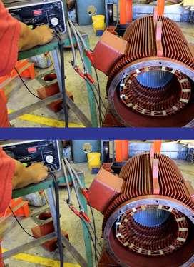 perbaikan mesin listrik,dinamo,gulungan tembaga