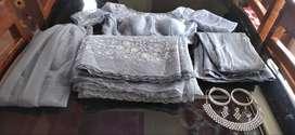 Designer Bridal Saree with veil, blouse,fishcut underskirt, accessorie