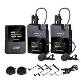 comica Wireless Lavalier Microphone, BoomX-D2 2.4G Compact Wireless Mi