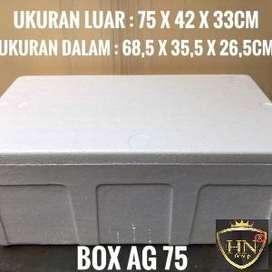 STYROFOAM BOX AG75 SPFF HARD UKURAN 75 X 42 X 33cm ANTI BOCOR & AWET