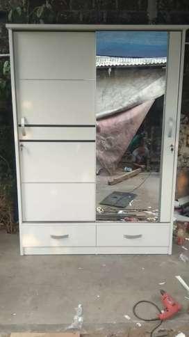 Lemari modern custom jumbo pintu 2 sleding cantik