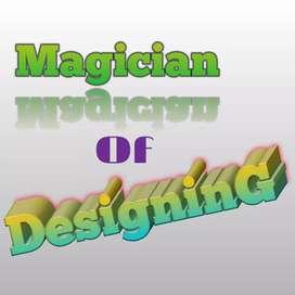 Logo Designing, Business card Designing, textile Designing,  etc.