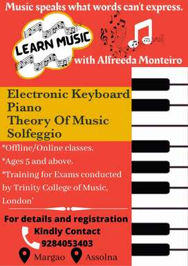 Music Teacher for Electronic Keyboard, Music Theory, Piano, Solfeggio