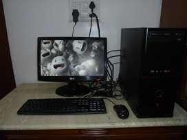 I Ball desktop computer with LG 20 monitor