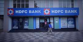 Urgent requirement HDFC Bank for male female candidate required
