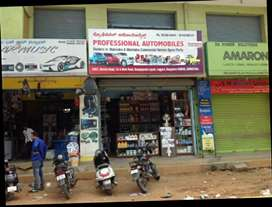 Running automobiles spare parts shop for sale