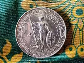 Koin kuno one dollar 1901