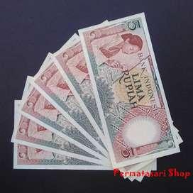 uang jadul 5 rupiah seri pekerja tahun 1958