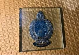 pajangan kaca logo lambang keraton solo