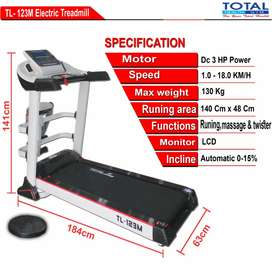Treadmill electrik merk total 123