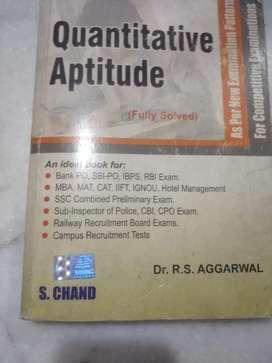 Quantative aptitude by Dr R.S AGGARWAL