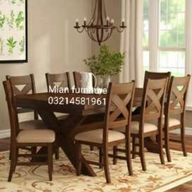 12 Elegant Simple dining table with six chairs designs with warranty