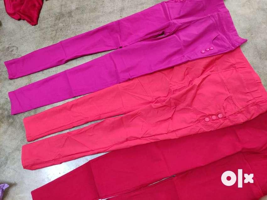 3 new  jeggins(red,orange,pink) 0