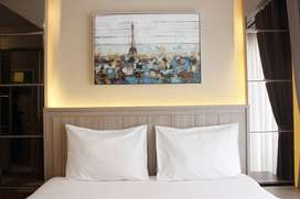 Studio/2BR Furnished Room at Grand Asia Afrika Apartment By Travelio