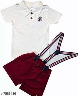 Trendy kids clothing set for little child