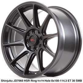 spesial velg SHINJUKU JD7060 HSR R16X7/8 H8X100-114,3 ET35/30 SMB