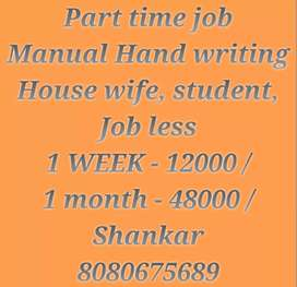 Easy hand writing job only copy writing work