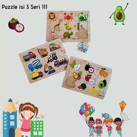 Mainan anak edukasi puzzle seri III