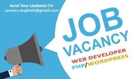Urgent Hiring For PHP Web Developer/Designer