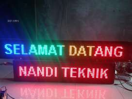 Running text LED.