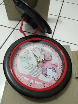 souvenir ultah jam dinding murah, souvenir jam dinding custom