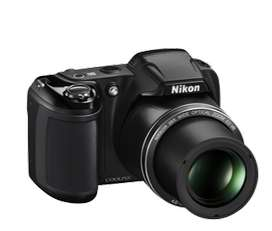 brand new NIKON Coolpix L340 Point  (Black) with 8GB SD card on sale