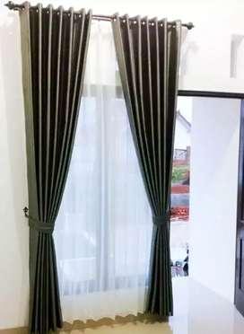 Wallpaper Curtain Korden Vitrase Hordeng Gorden Gordyn Blinds zx-39