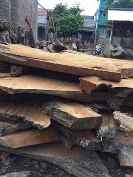 Top meja taman kayu jati