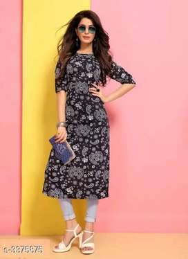 Comfy crepe print kurta for woman
