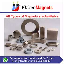 Industrial Neodymium magnets of every size and shape is available