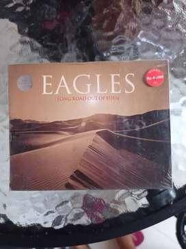 Kaset pita segel double kaset EAGLES : LONG ROAD OUT OF EDEN