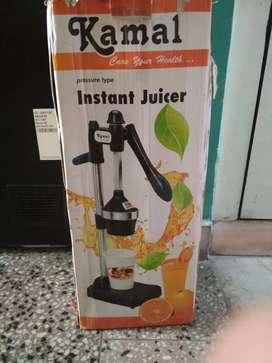 Instant juicer and 2 burner gas stove