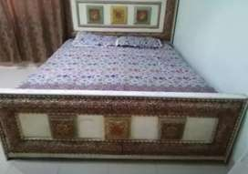 Double bed with metress