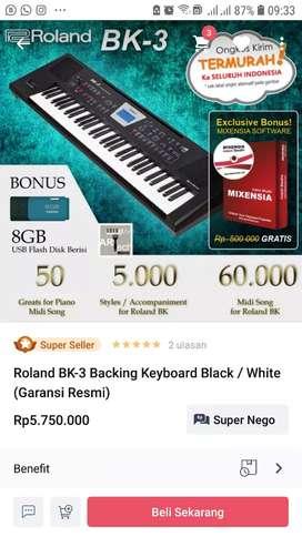 Keyboard Roland BK 3 murah