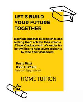 A'Level Graduate available for tuition