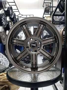 Velg Mobil R16 HSR Tipe SIAK Lebar Pelek 7 Lubang 4 Ring 16 Bronze