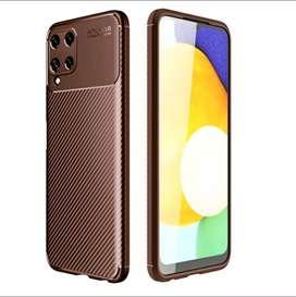 Case Samsung  Galaxy A22 4G (navy &cokelat)