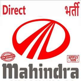 Apply For Full Time Job in Mahindra Motors India Pvt ltd. all india pr