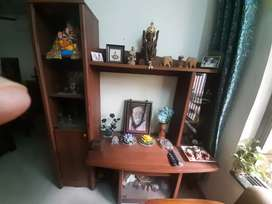 Tv unit with side rack.