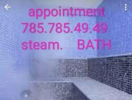 steam bath avalable