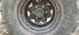 Tractor big front tyres