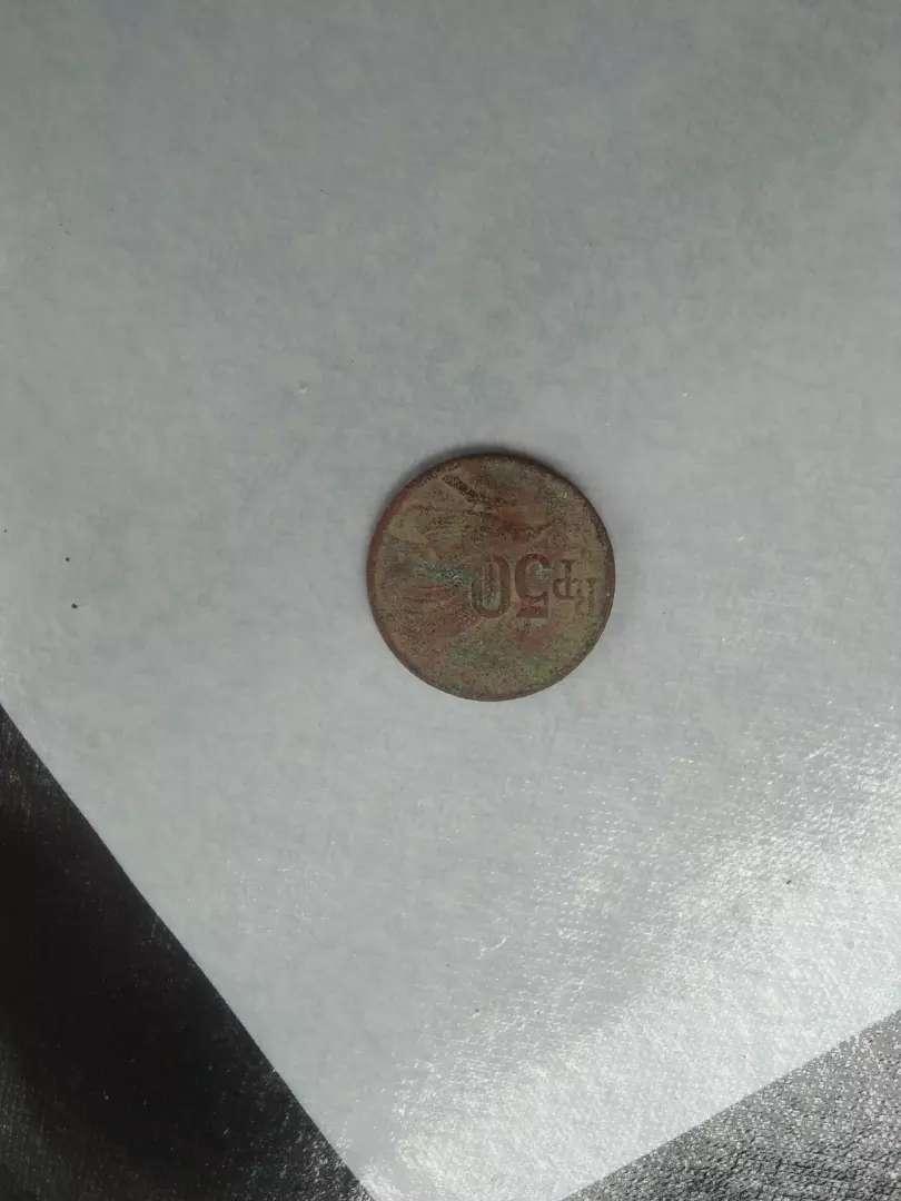 Uang koin 50 rupiah tahun 1971 barang koleksi pribadi 0