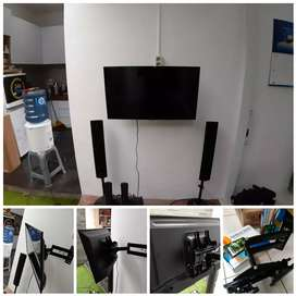 Pasang bracket Dudukan tv di tembok dinding ukuran 15-80inc