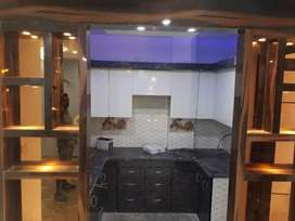 3 Bhk floor with lift, car parking, semi furnished floor